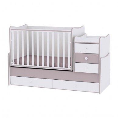 Auganti vaikiška lovytė su komoda Lorelli Maxi Plus New, 110x62 5