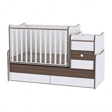 Auganti vaikiška lovytė su komoda Lorelli Maxi Plus New, 110x62 6