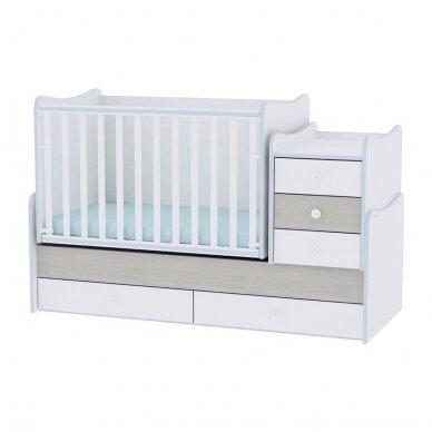 Auganti vaikiška lovytė su komoda Lorelli Maxi Plus New, 110x62 4