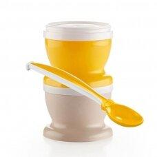 2 uždaromi puodeliai + šaukštelis Ananas