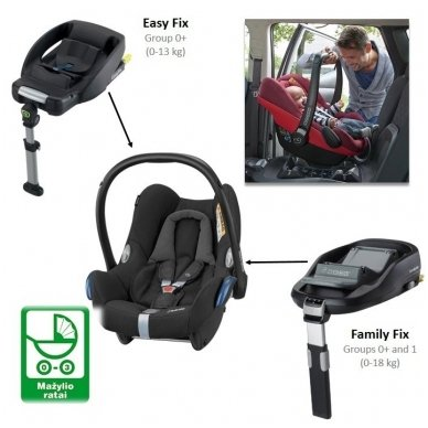 Automobilinė kėdutė Maxi-Cosi CabrioFix 0-13 kg, Nomad Grey 5
