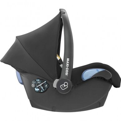 Automobilinė kėdutė Maxi Cosi Citi2 (0-13 kg), Essential Black 4