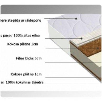 Čiužinys su kokoso plokšte lovai 140*70 cm 2