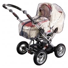 Rain cover for pram with covered zipper