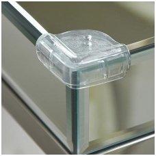 Apsaugos kampams stikliniais paviršiais, skaidrios, Clippasafe