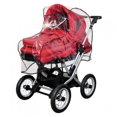Apsauga nuo lietaus su atšvaitu lopšiui/vežimėliui permetama rankena 2