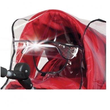 Apsauga nuo lietaus su atšvaitu lopšiui/vežimėliui permetama rankena 3