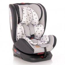 Automobilinė kėdutė Lorelli, Nebula Isofix Grey Crowns 0-36 kg