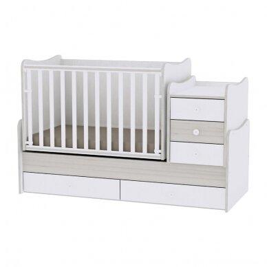 Auganti vaikiška lovytė su komoda Lorelli Maxi Plus New, 110x62