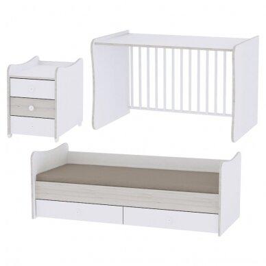 Auganti vaikiška lovytė su komoda Lorelli Maxi Plus New, 110x62 2