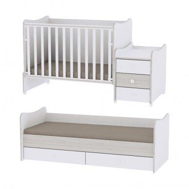 Auganti vaikiška lovytė su komoda Lorelli Maxi Plus New, 110x62 3