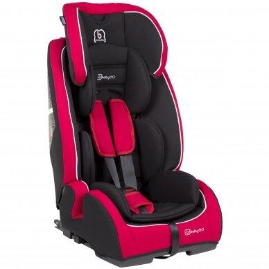 Automobilinė kėdutė BabyGo FreeFix 9-36kg Red
