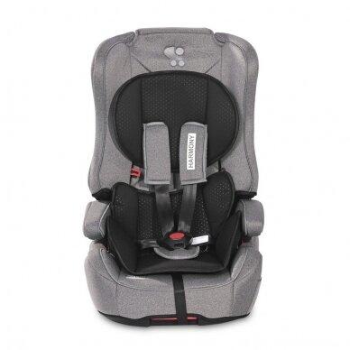 Automobilinė kėdutė Lorelli, Harmony Isofix 9-36 kg, Steel Black 2