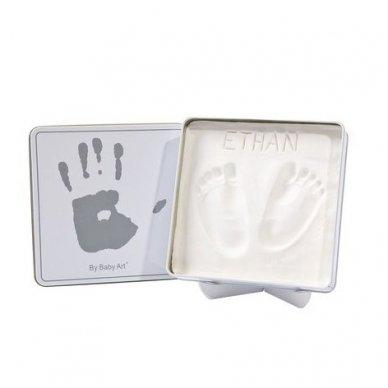 Baby Art dėžutė su įspaudu balta/pilka