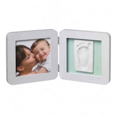 Baby Art Dvigubas kvadratinis nuotraukos rėmelis su įspaudu pastel