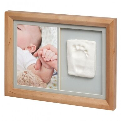 Baby Art kvadratinis nuotraukos rėmelis su įspaudu Natural