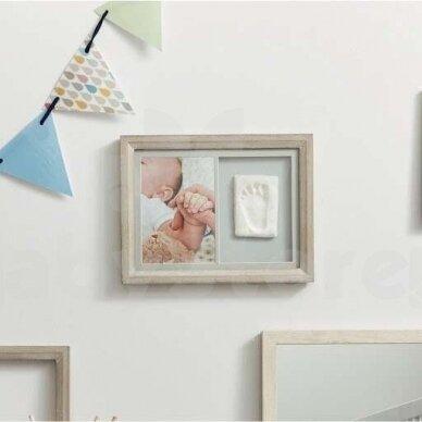 Baby Art kvadratinis nuotraukos rėmelis su įspaudu Natural 2