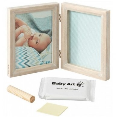 Baby Art dvigubas stačiakampis nuotraukos rėmelis su įspaudu stormy 2