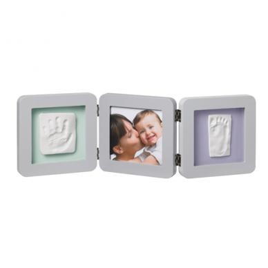 Baby Art trigubas kvadratinis rėmelis su įspaudais pastel