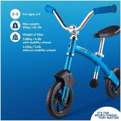 Balansinis dviratukas MICRO G-Bike Chopper Deluxe mėlynas 6