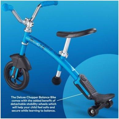 Balansinis dviratukas MICRO G-Bike Chopper Deluxe mėlynas 7
