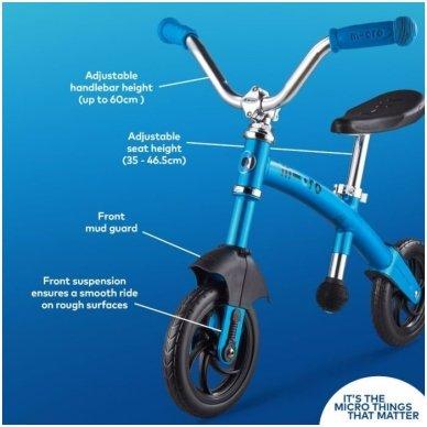 Balansinis dviratukas MICRO G-Bike Chopper Deluxe mėlynas 8