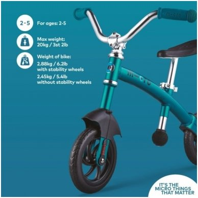 Balansinis dviratukas MICRO G-Bike Chopper Deluxe žydras 10