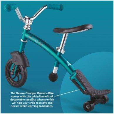 Balansinis dviratukas MICRO G-Bike Chopper Deluxe žydras 11
