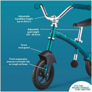 Balansinis dviratukas MICRO G-Bike Chopper Deluxe žydras 12