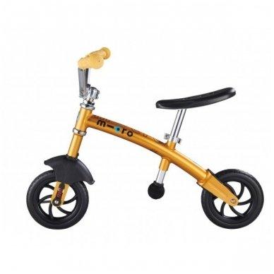 Balansinis dviratukas MICRO G-Bike Chopper Deluxe geltonas 3