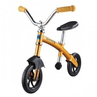 Balansinis dviratukas MICRO G-Bike Chopper Deluxe geltonas 4