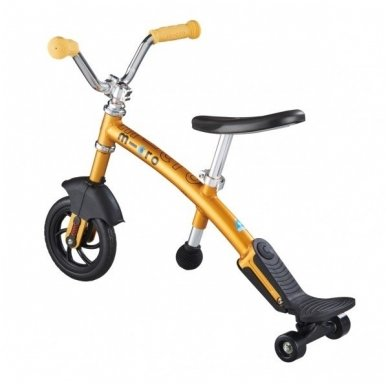 Balansinis dviratukas MICRO G-Bike Chopper Deluxe geltonas