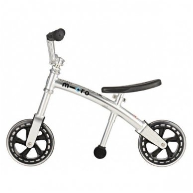 Balansinis dviratukas MICRO G-Bike Chopper sidabrinis 2