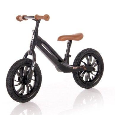 Balansinis dviratukas Racer, juodas 2