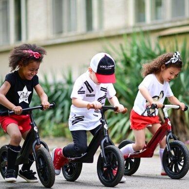 Balansinis dviratukas Racer, juodas 2 5