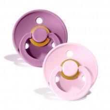 Čiulptukai BIBS COLOUR Lavender/ Baby Pink 2 dydis