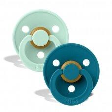 Čiulptukai BIBS COLOUR Nordic Mint/Forest Lake 1 dydis