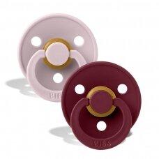 Čiulptukai BIBS COLOUR Pink Plum/Elderberry 1 dydis