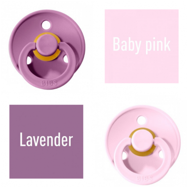 Čiulptukai BIBS COLOUR Lavender/ Baby Pink