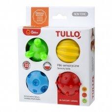 Kamuoliukai sensoriniam vystymui Tullo, 4 vnt.