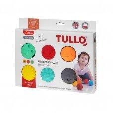 Kamuoliukai sensoriniam vystymui Tullo, veidukai, 6 vnt.