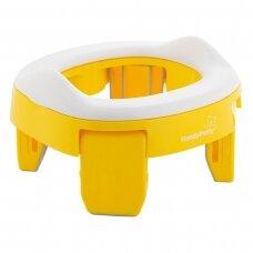 Kelioninis naktipuodis sulankstomas Roxy Kids HandyPotty 2in1 Yellow