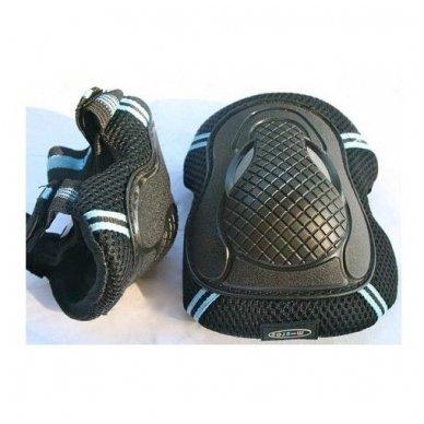 Kelių ir alkūnių apsaugos MICRO juodos (XS dydis) 4
