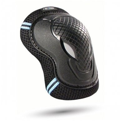 Kelių ir alkūnių apsaugos MICRO juodos (XS dydis) 2