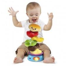 """Lavinamasis žaislas muzikinė-piramidė """"Mėsainis"""""""