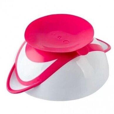 Lekštė su prie stalo limpančiu dugnu ir šaukšteliu Pink 2