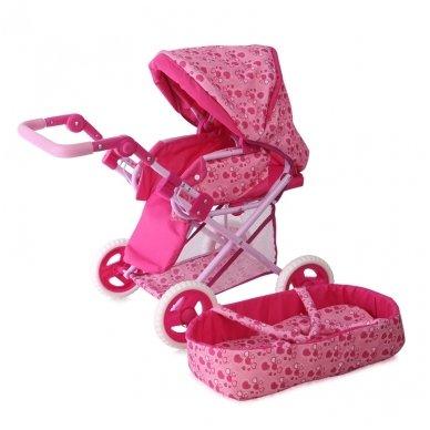 Lėlių vežimėlis sportinė dalis+nešiojamas lopšys BEBE