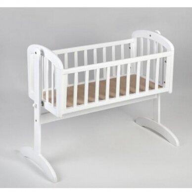 Lopšelis Anna Swinging crib White 2