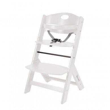 Maitinimo kėdutė medinė Family White 3