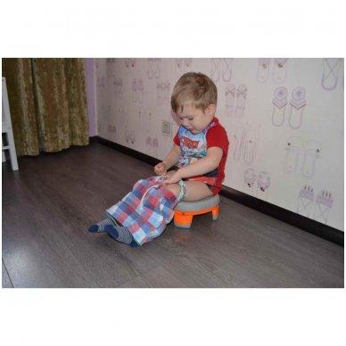 Naktipuodis Roxy Kids HandyPotty 2in1 sulankstomas kelioninis blue 9